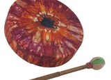 ***SPECIAL*** Reg. $53.50!!  Bodhran Drum – Tie Dye 12″  (WMC-BO9202)