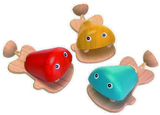 ***NEW***  Wooden Fish Castanet 6-pack (WMC-6435)